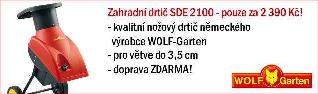 Drtič WOLF-Garten SDE 2100 - akce