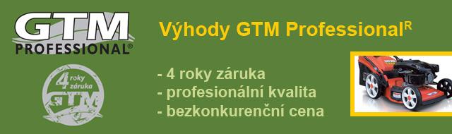 Zahradní technika GTM se zárukou 4 roky