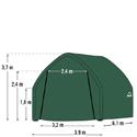 Plachtová garáž SHELTERLOGIC 3,9 x 6,1 m - 62730EU