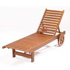 BASTAD - dřevěné lehátko s kolečky