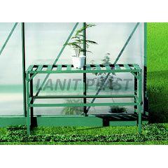 AL regál jednopolicový (126x50 cm) zelená barva