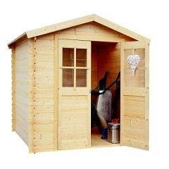 Dřevěný zahradní domek LANITPLAST LENA 200 x 200 cm