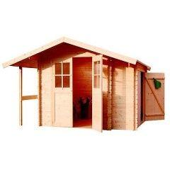 Dřevěný zahradní domek LANITPLAST HENRIETA 313 x 200 cm