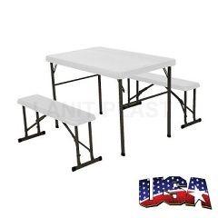 LIFETIME - campingový stůl + 2x lavice (80353)