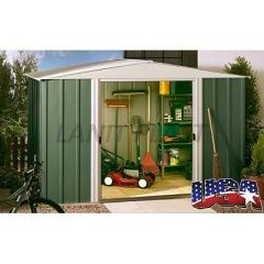 Kovový zahradní domek ARROW DRESDEN 1012 zelený