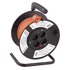 Prodlužovací kabel na bubnu - 4 zásuvky, 25m